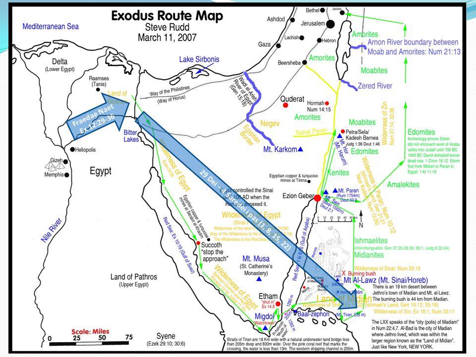 Red Sea > Mt Sinai Fraedae Saredei Mundei Tusdei Fraedei Wed Tos EX 19 Mundei – 10 Commandments TOK SABAT FAS SABAT