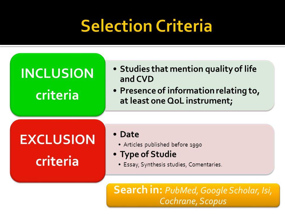 Search in: PubMed, Google Scholar, Isi, Cochrane, Scopus