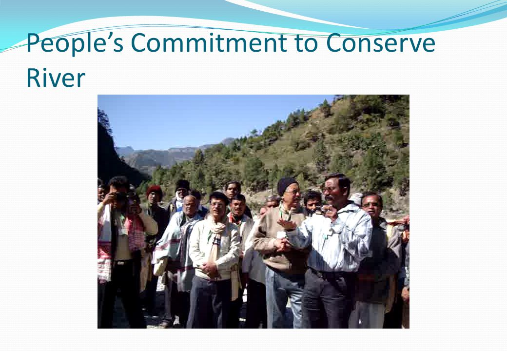 People's Commitment to Conserve River