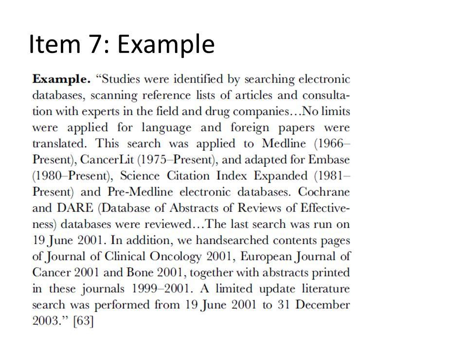 Item 7: Example