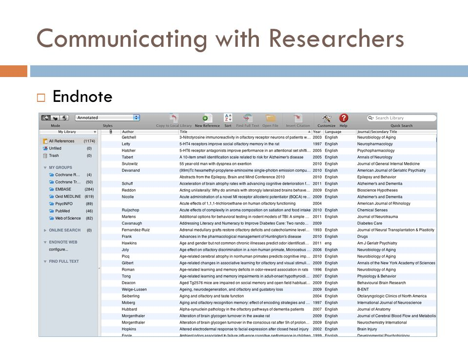 Communicating with Researchers  Excel