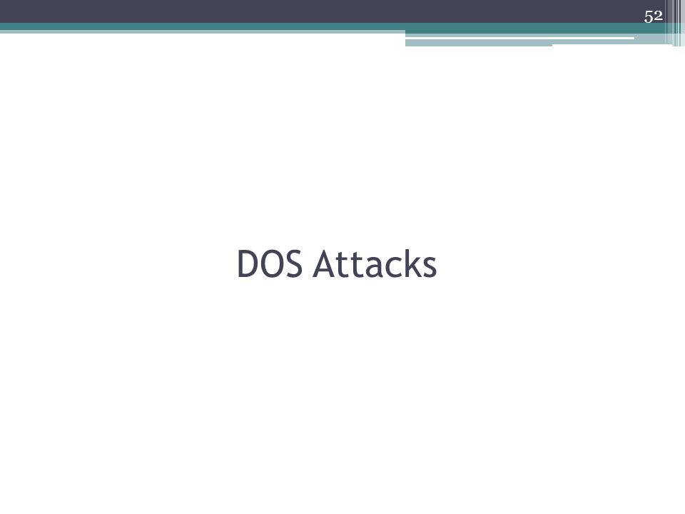 DOS Attacks 52