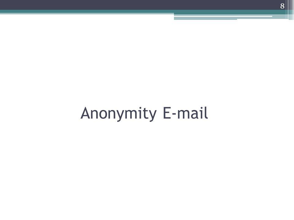 Anonymity E-mail 8