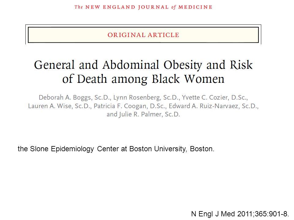 the Slone Epidemiology Center at Boston University, Boston. N Engl J Med 2011;365:901-8.