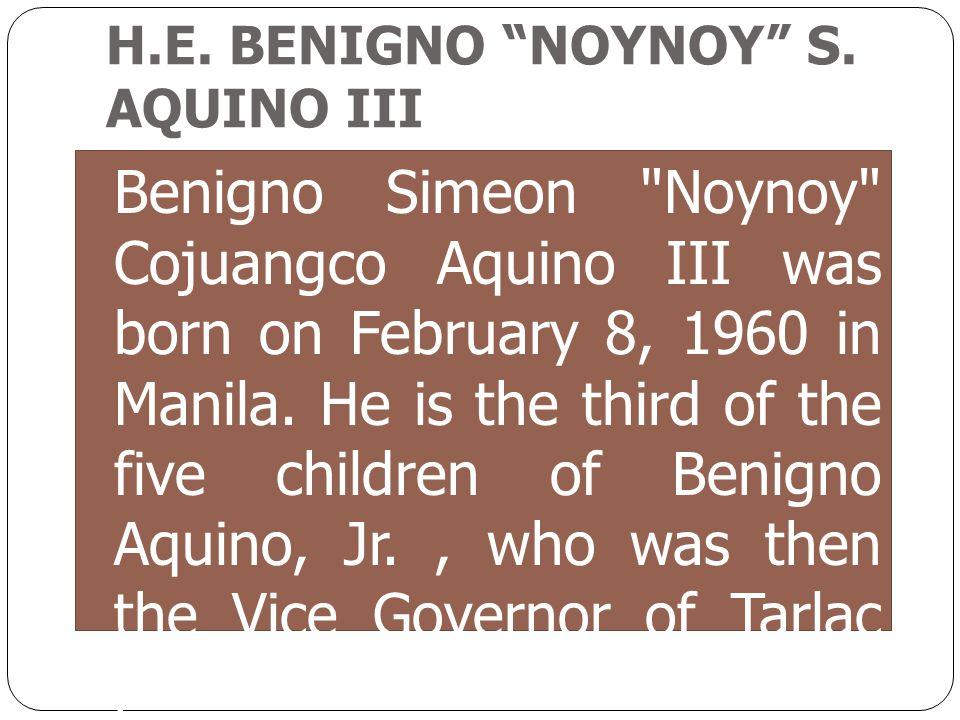 Benigno Simeon Noynoy Cojuangco Aquino III was born on February 8, 1960 in Manila.