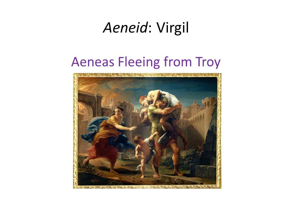 Aeneid: Virgil Aeneas Fleeing from Troy