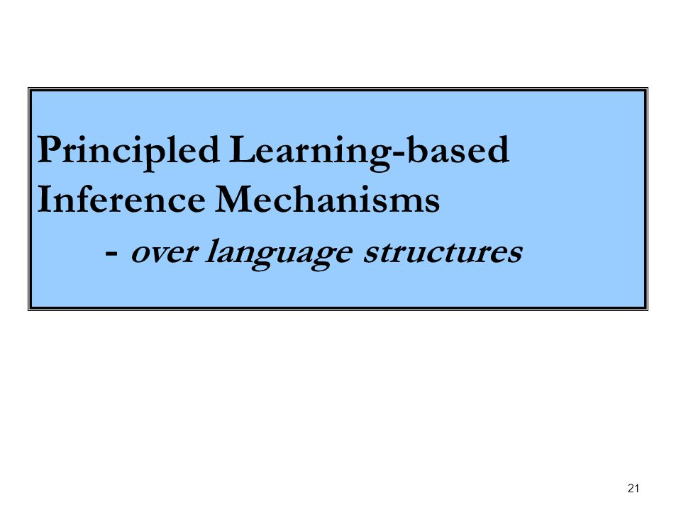 21 Principled Learning-based Inference Mechanisms - over language structures
