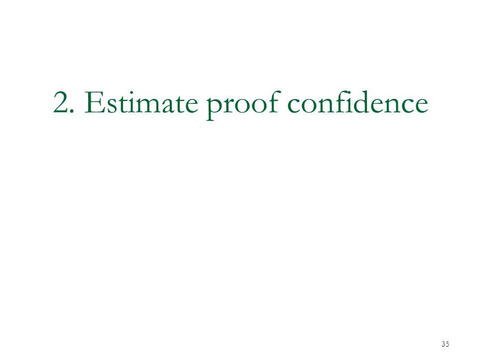 2. Estimate proof confidence 35