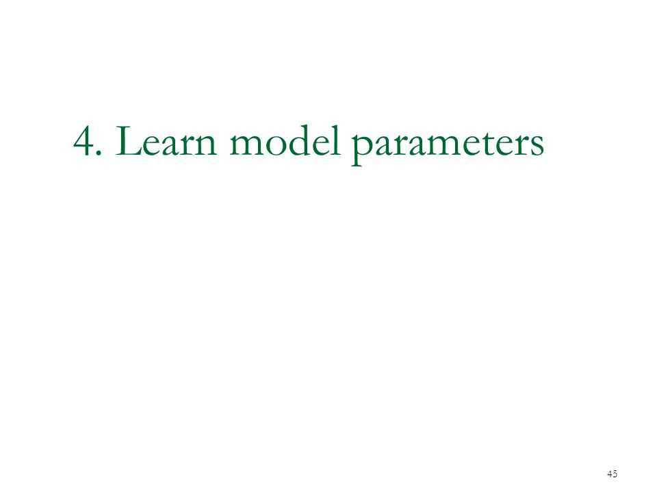 4. Learn model parameters 45