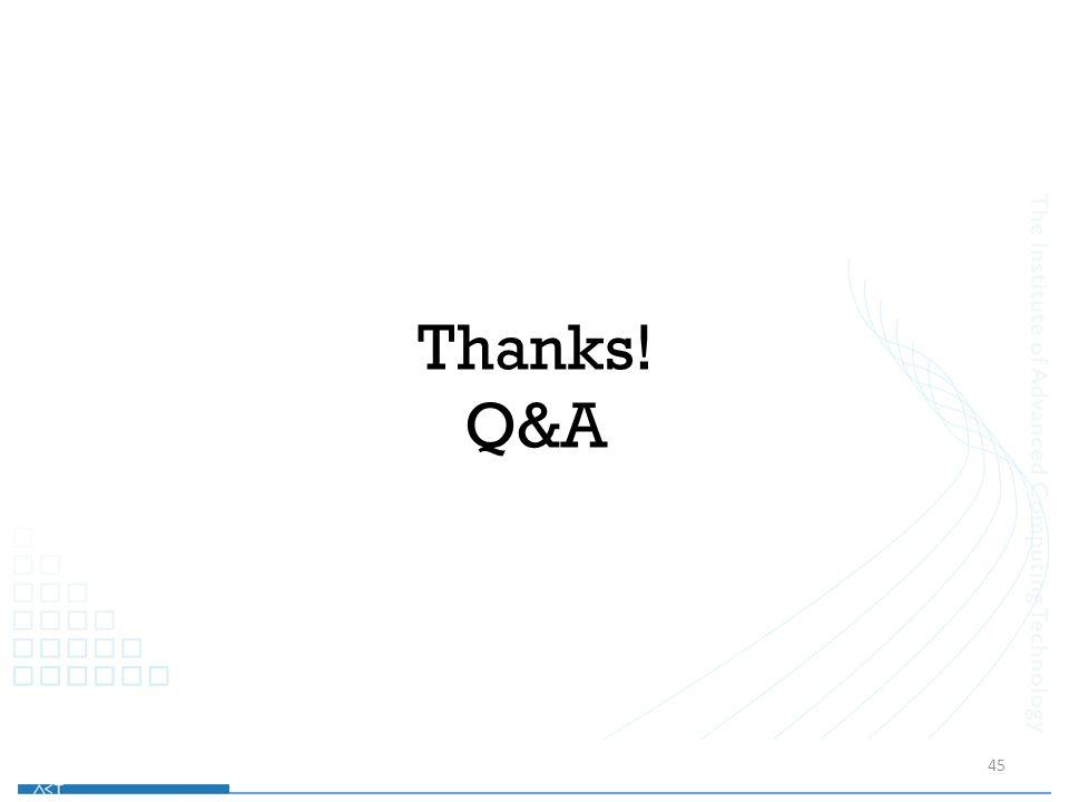 Thanks! Q&A 45