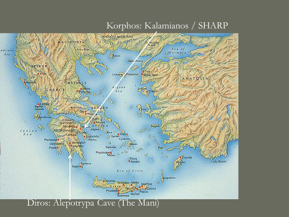 Diros: Alepotrypa Cave (The Mani) Korphos: Kalamianos / SHARP