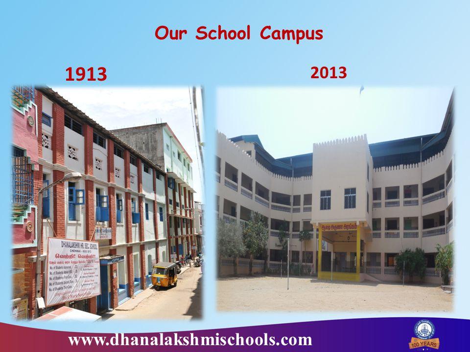 www.dhanalakshmischools.com Our School Campus 1913 2013