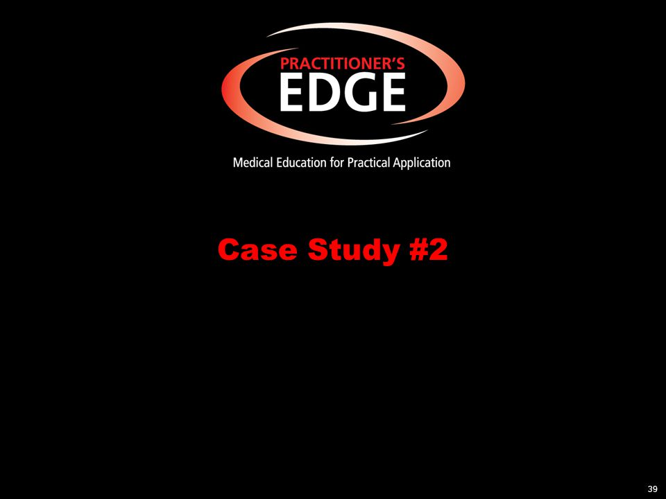 Case Study #2: 73-year-old Male Procedure: Right carotid endarterectomy Comorbid conditions: –Coronary artery disease –Type 1 diabetes –Hypertension –Peripheral vascular disease Surgical history: –Left femoral popliteal bypass at age 71 –Stent inserted at age 68