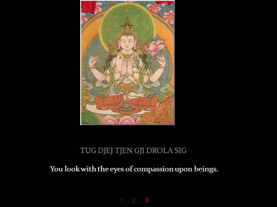 DSOG SANGJE KJI U LA GJEN the perfect Buddha is the ornament on your head. 1… 2… 3