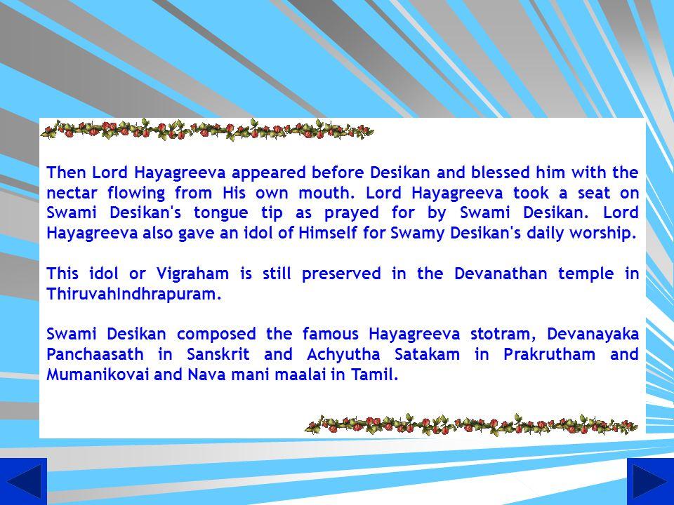 Desikan Reciting Hayagreeva mantra