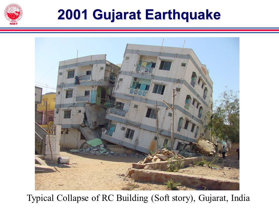 2001 Gujarat Earthquake Typical Collapse of RC Building (Soft story), Gujarat, India