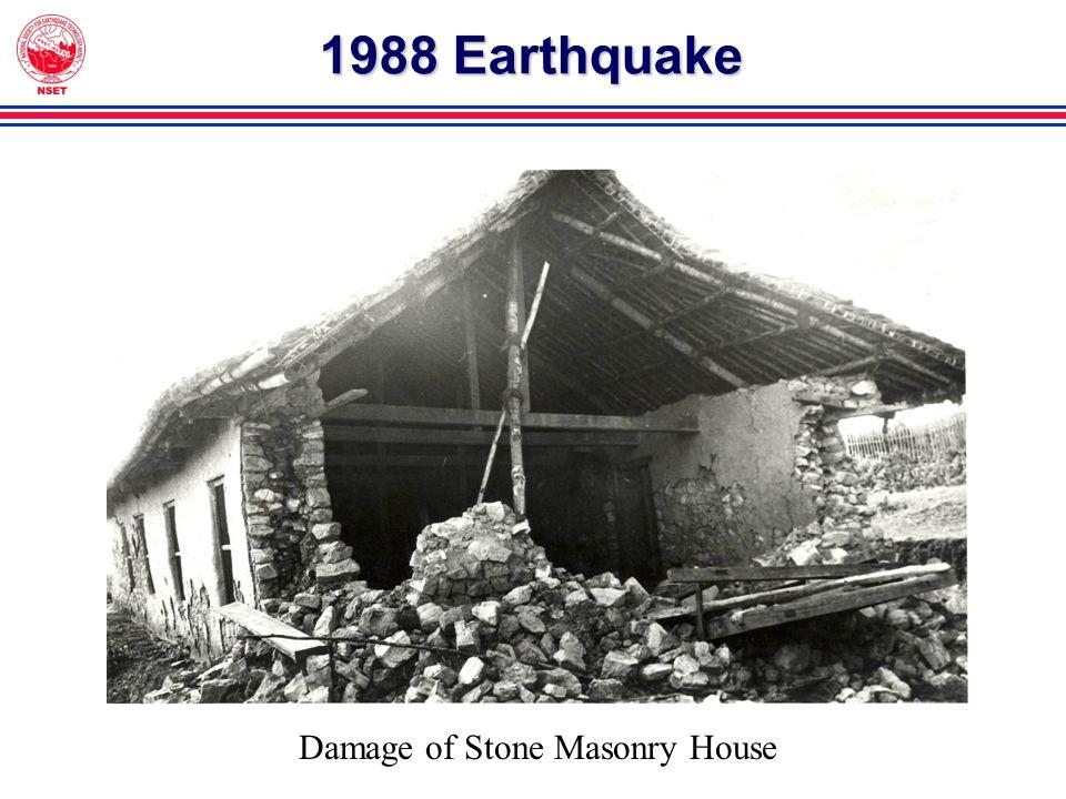 1988 Earthquake Damage of Stone Masonry House