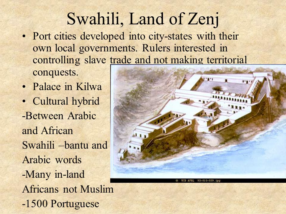 Swahili, Land of Zenj Port cities developed into city-states with their own local governments.