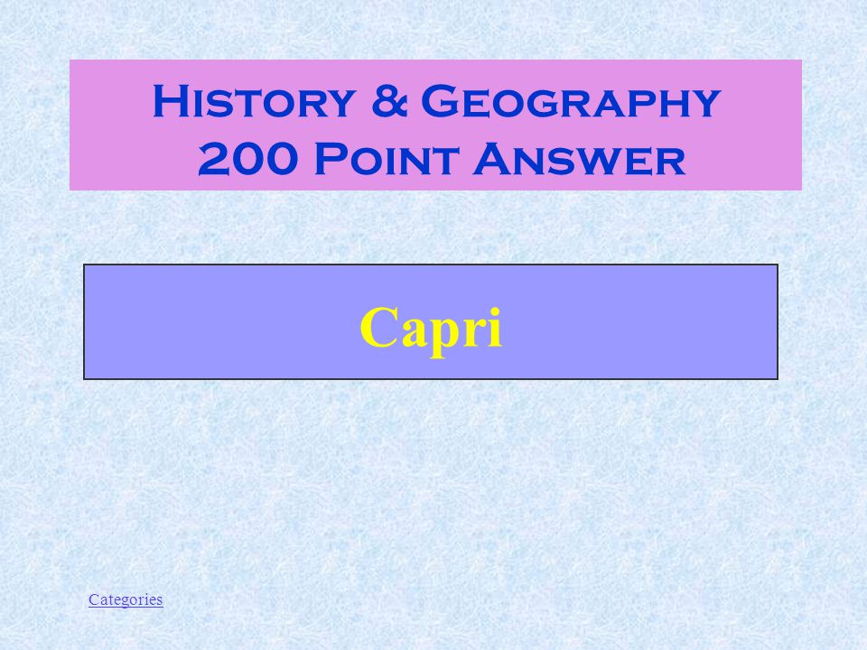 Categories What's the island off the coast of Naples with the Blue Grotto.