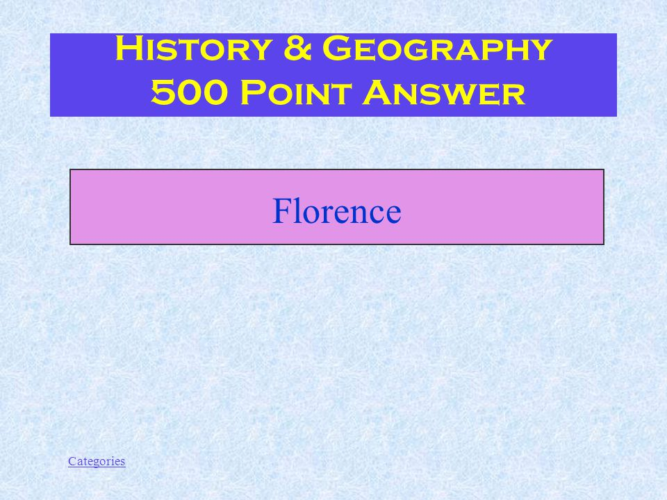 Categories After the unification of Italy, the capital was moved from Turin to....