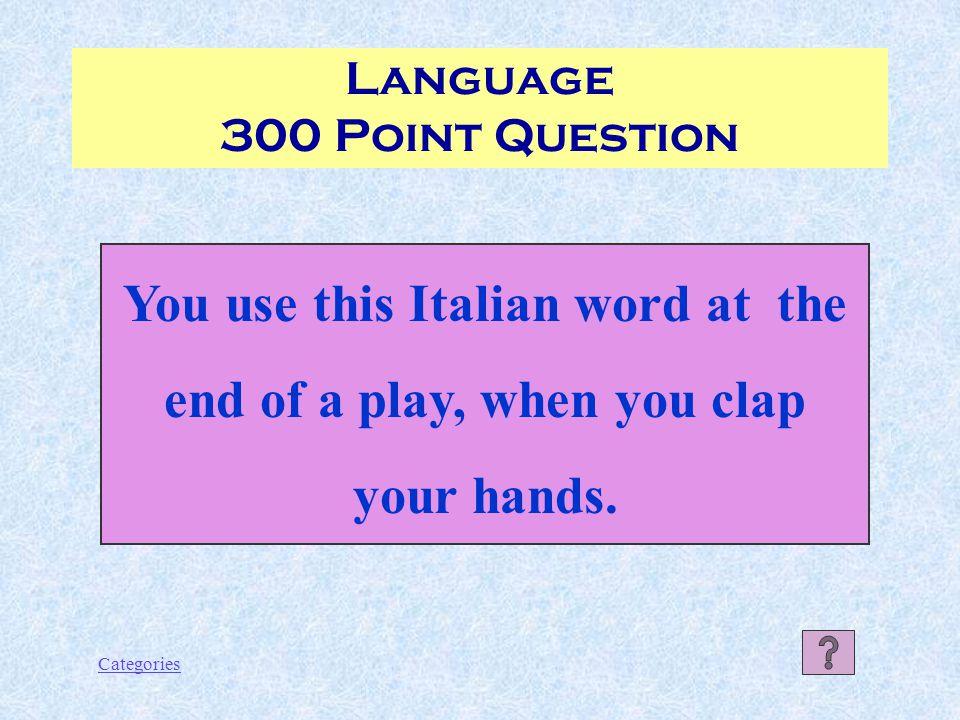 Categories Spaghetti Language 200 Point Answer