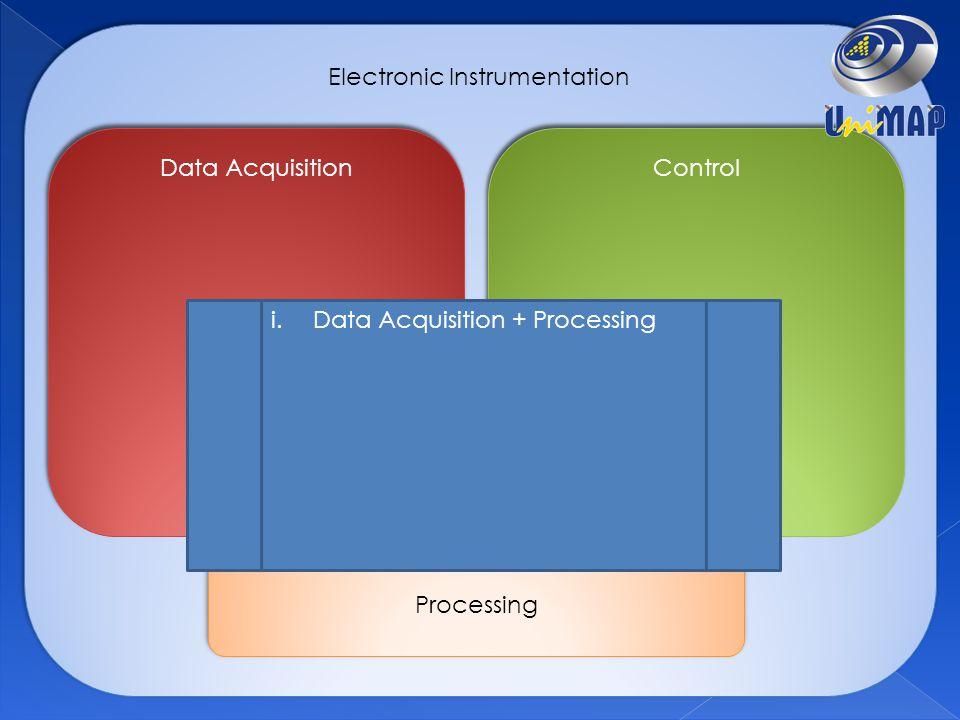 Electronic Instrumentation Data Acquisition Control Processing i.Data Acquisition + Processing