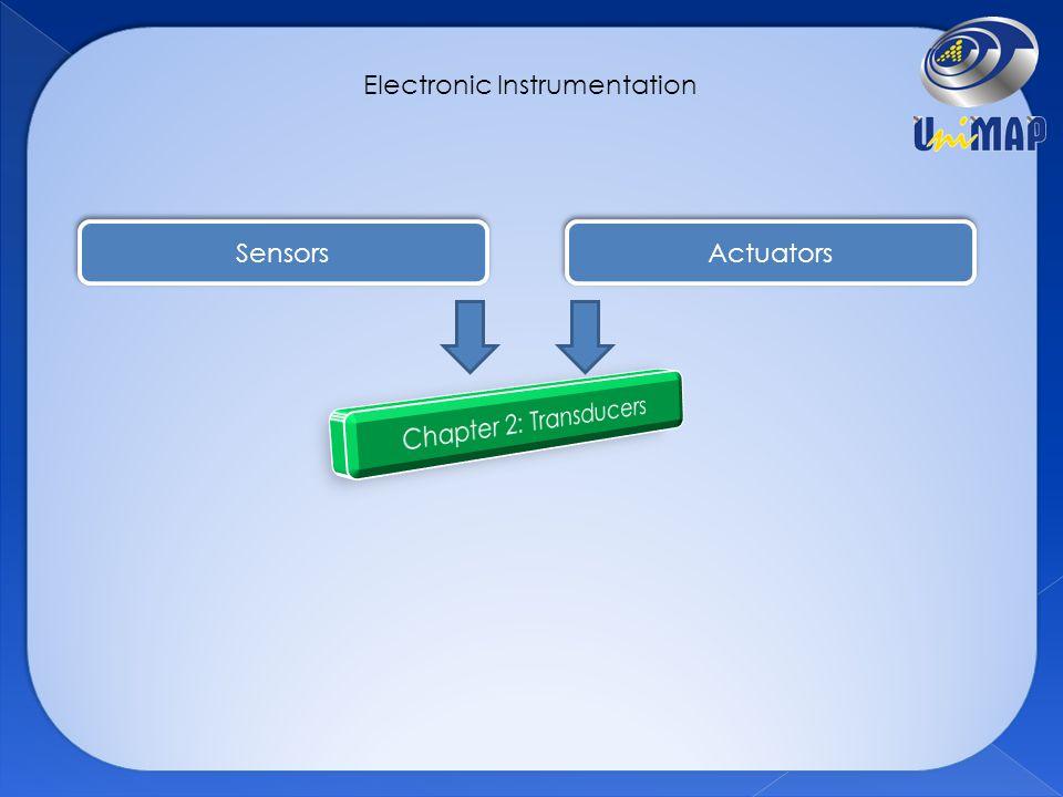 Electronic Instrumentation Sensors Actuators