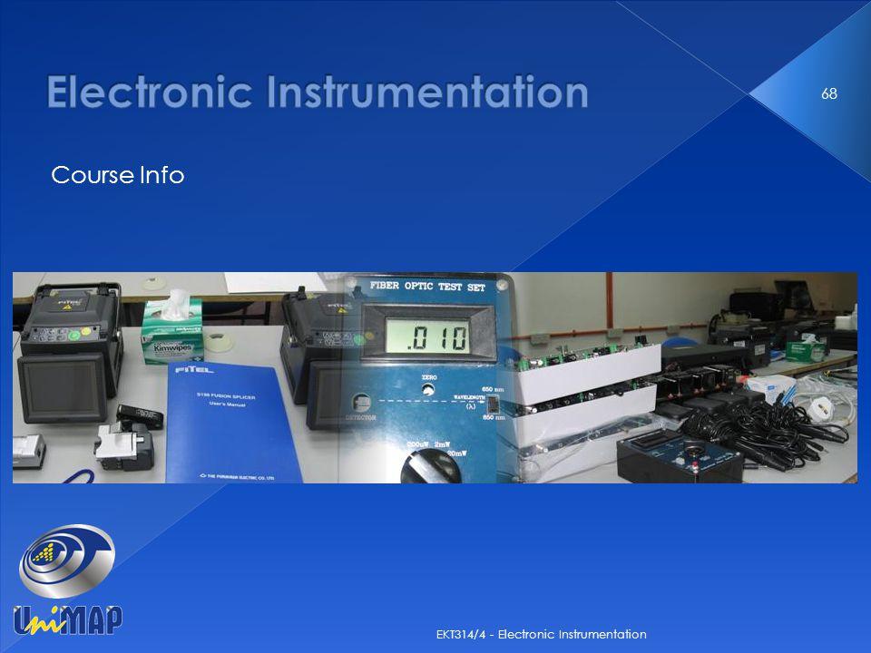 Course Info 68 EKT314/4 - Electronic Instrumentation