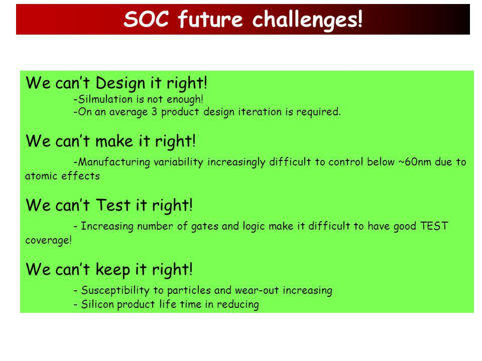 Example of SOC complexity matrix