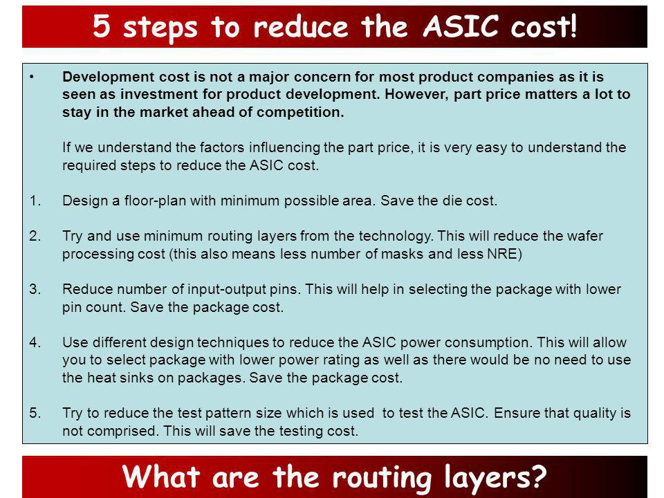 How do you calculate the cost of ASIC.