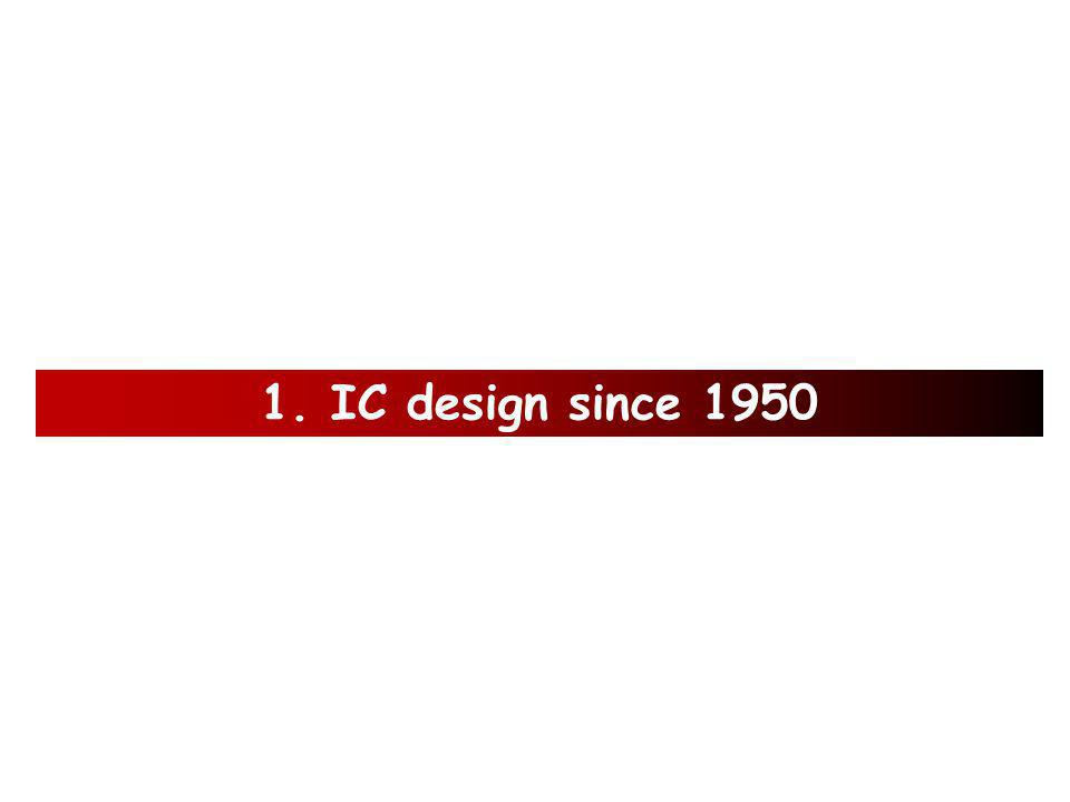 Outline 1.IC design since 1950 2. What is Silicon.