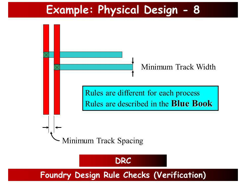 Static Timing Analysis (Verification) Example: Physical Design - 7