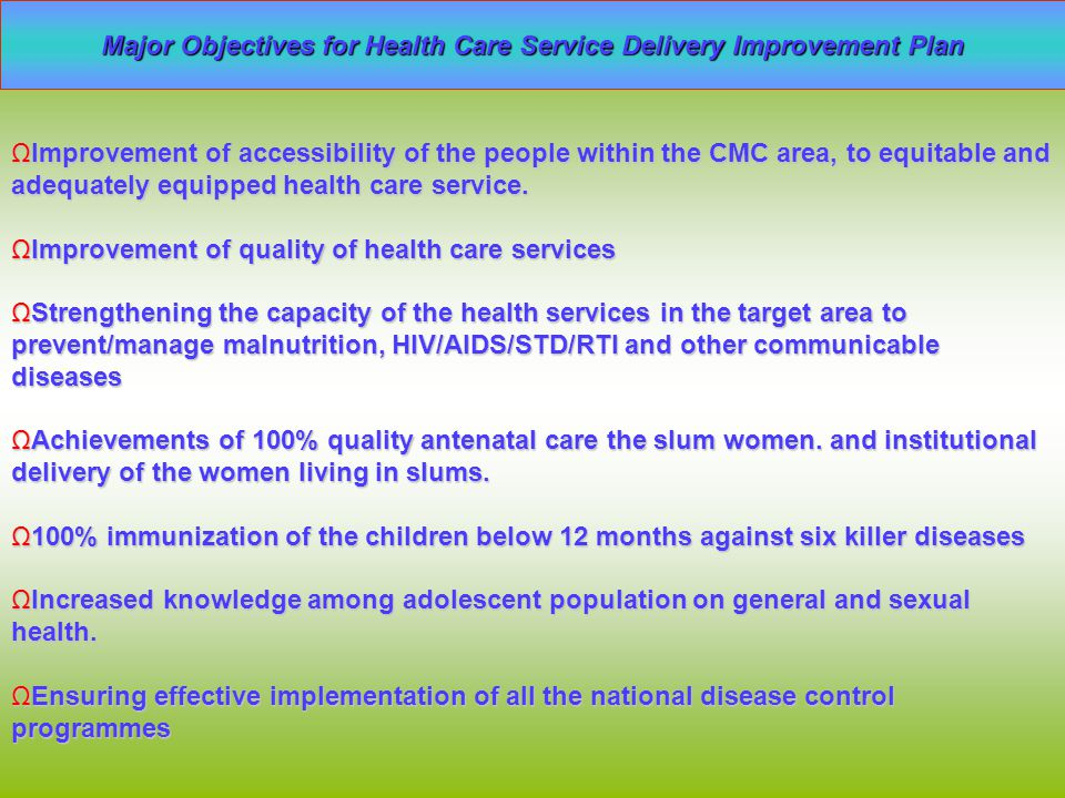 Major findings from records and ward level discussions No separate room in CMC for HO/AHO for confidential consultationNo separate room in CMC for HO/AHO for confidential consultation Medicines are stored outside of CMC Medicines are stored outside of CMC Health Centres are not equipped with required medical instruments, most of them run in others' place and have no facility of water or latrine.