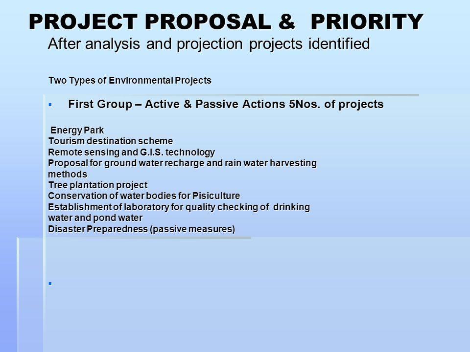 Projects Under First Group Name of projectCost in Rupees Source of Fund A Energy Park0.30 CroresPower Dept.