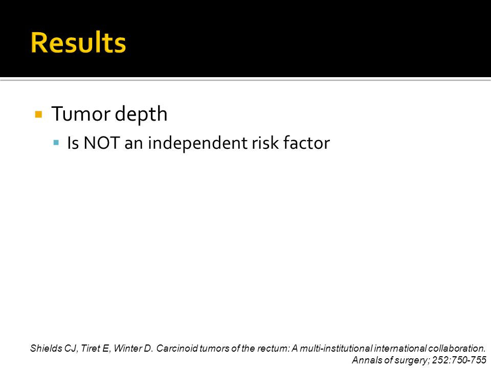  Tumor depth  Is NOT an independent risk factor