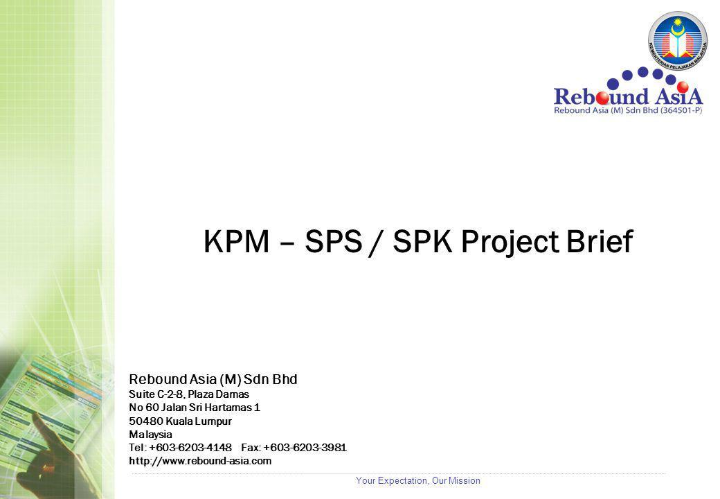 Your Expectation, Our Mission Rebound Asia (M) Sdn Bhd Suite C-2-8, Plaza Damas No 60 Jalan Sri Hartamas 1 50480 Kuala Lumpur Malaysia Tel: +603-6203-