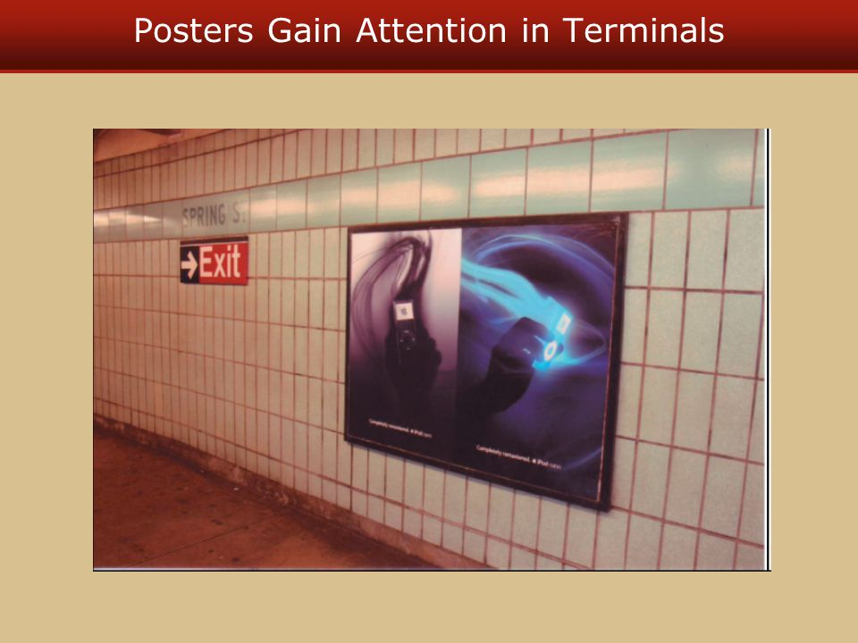 Posters Gain Attention in Terminals