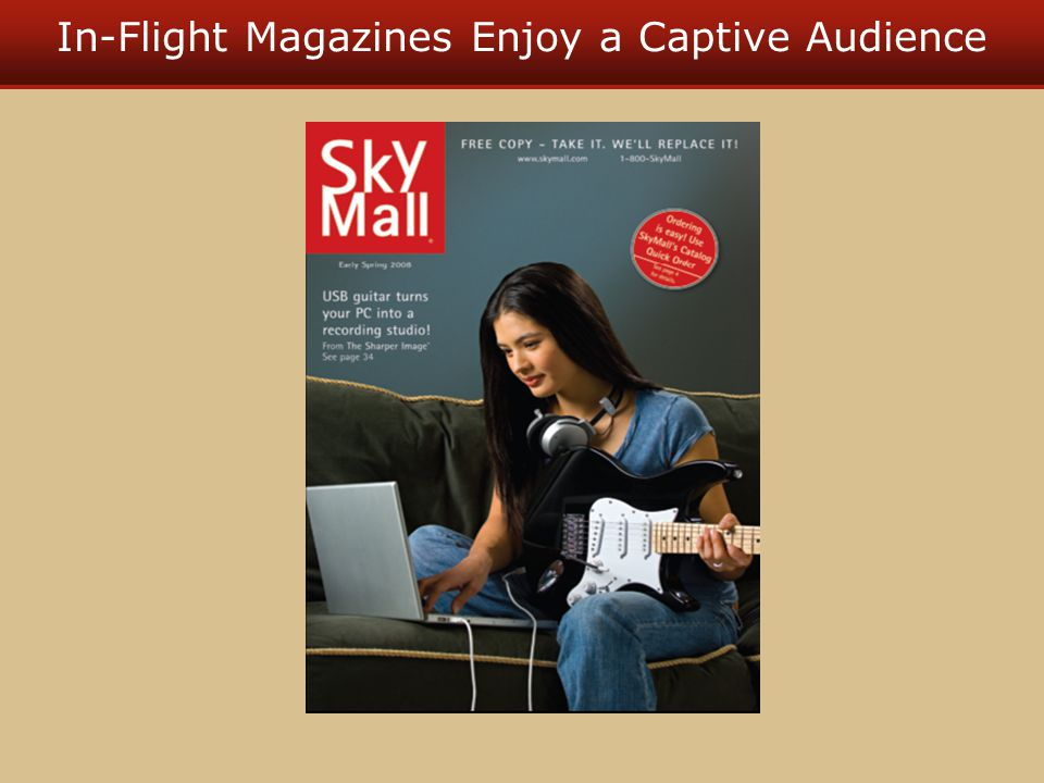 In-Flight Magazines Enjoy a Captive Audience