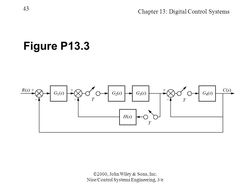 Chapter 13: Digital Control Systems 43 ©2000, John Wiley & Sons, Inc.