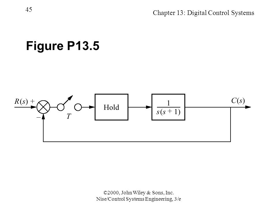 Chapter 13: Digital Control Systems 45 ©2000, John Wiley & Sons, Inc.