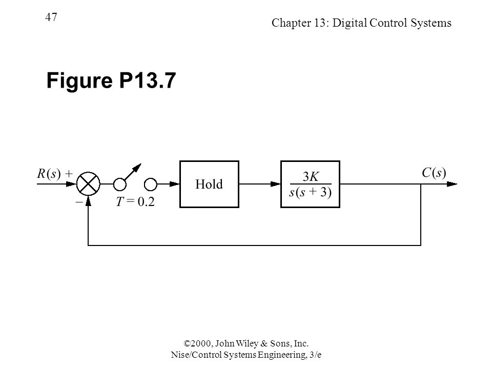 Chapter 13: Digital Control Systems 47 ©2000, John Wiley & Sons, Inc.