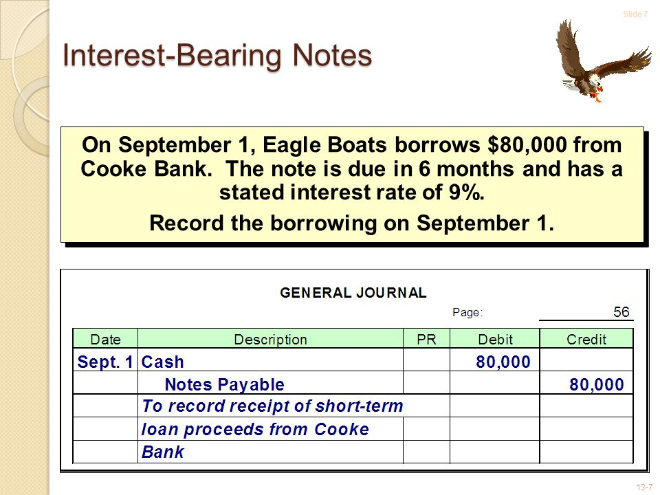 Slide 8 13-8 How much interest is due to Cooke Bank at year-end, on December 31.