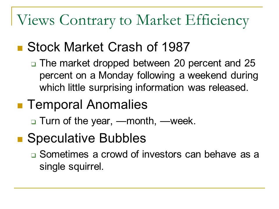 insider trading and market efficiency