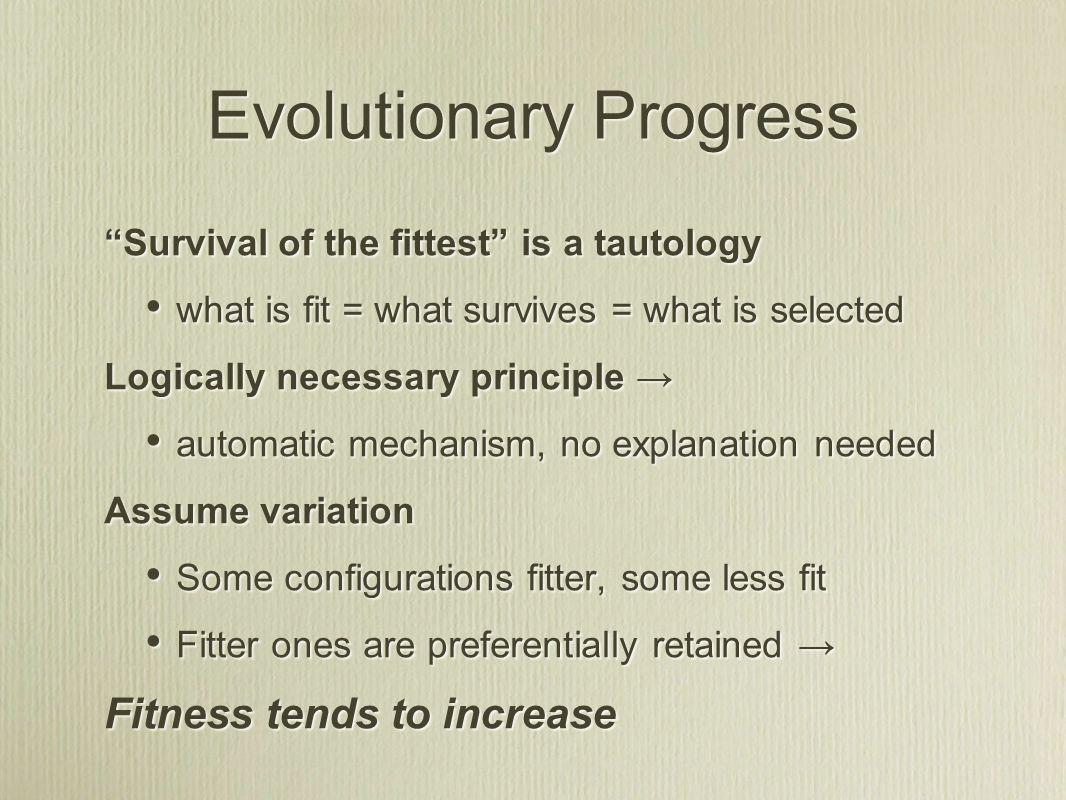 3 ways to achieve fitness 1.Intrinsic robustness/stability E.g.