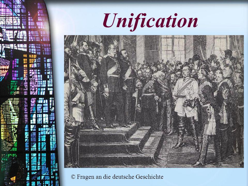 Unification © Fragen an die deutsche Geschichte