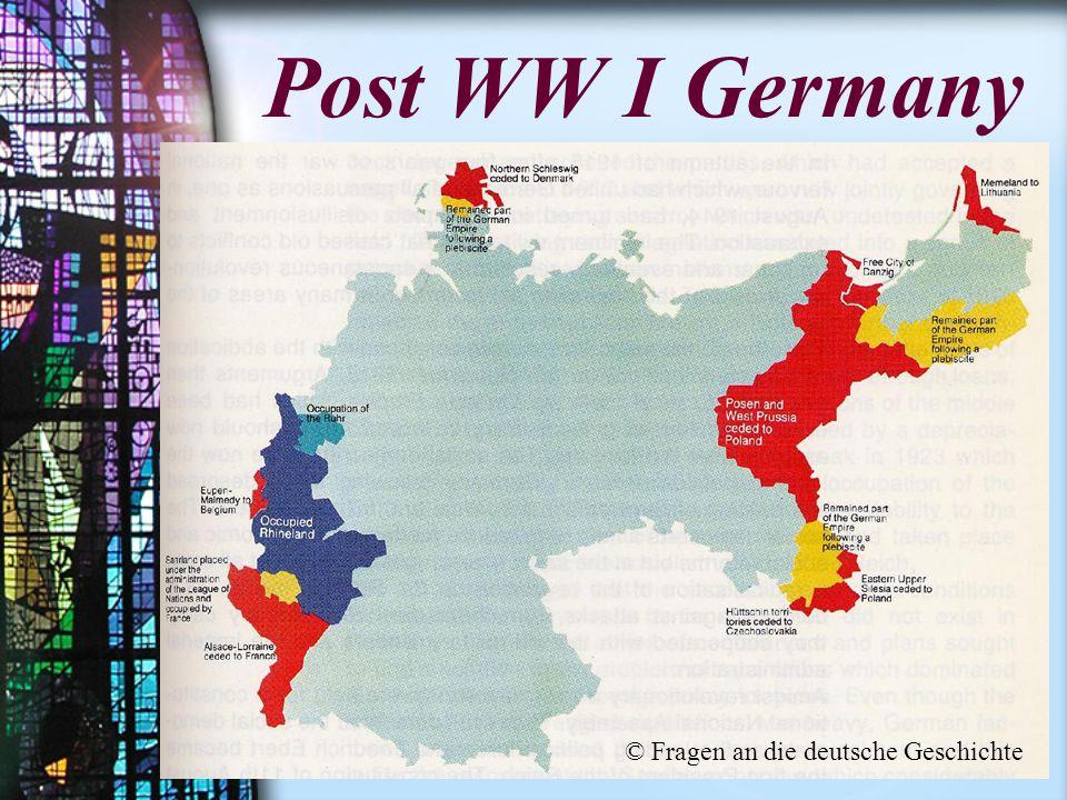 Post WW I Germany © Fragen an die deutsche Geschichte