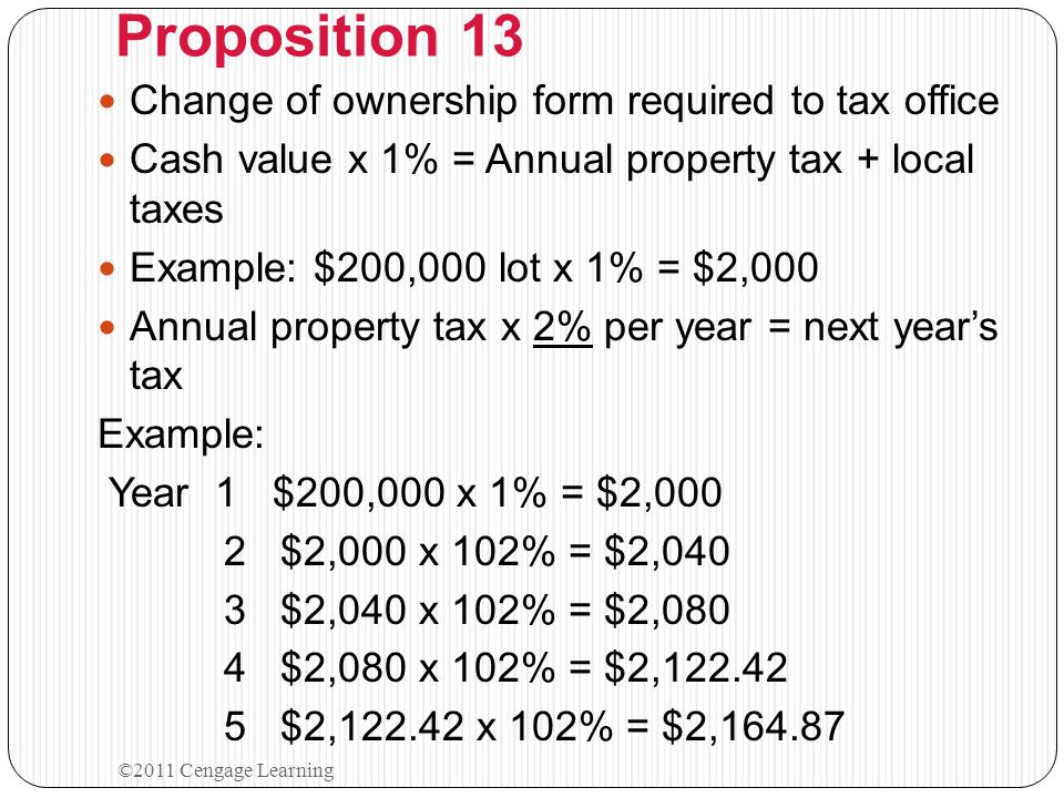 Real Property Taxes Assessed at full cash value General ( Ad Valorem ) Taxes 1.