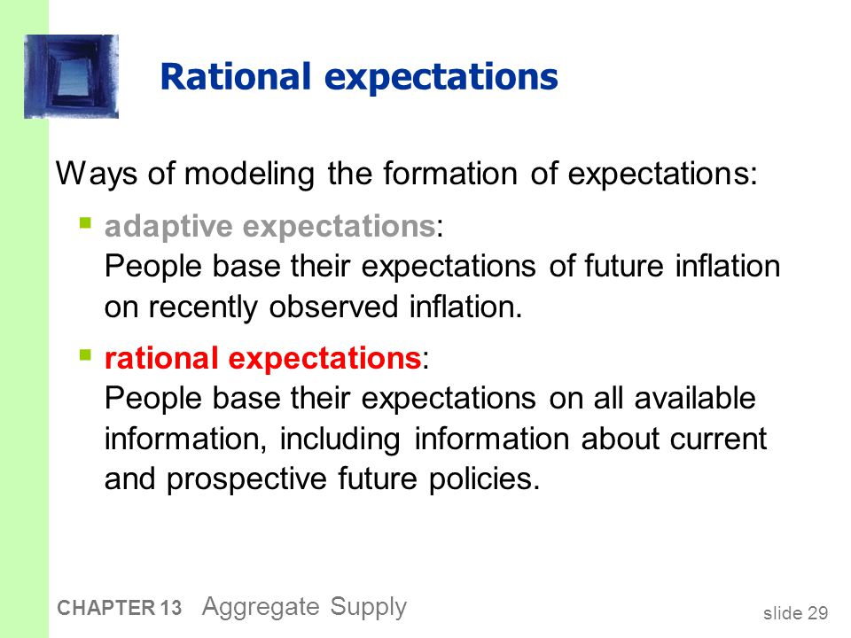 slide 30 CHAPTER 13 Aggregate Supply Painless disinflation.