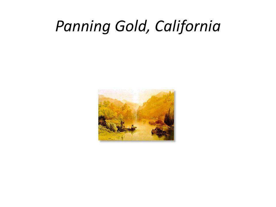 Panning Gold, California
