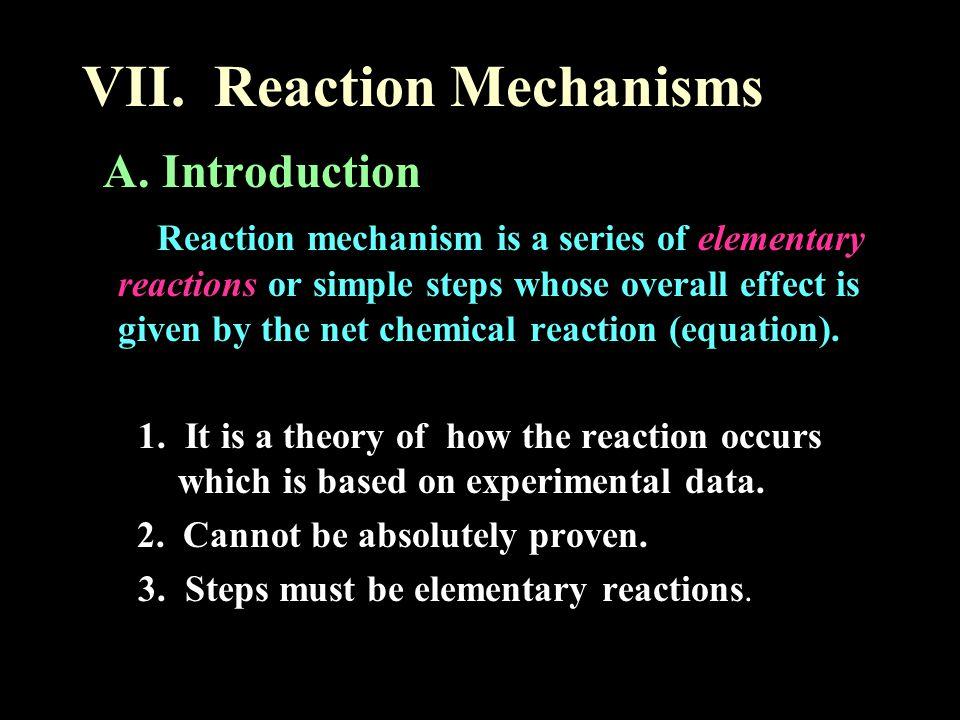 VII.Reaction Mechanisms A.